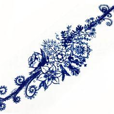 Boho Floral Bracelet Temporary Tattoo Sticker