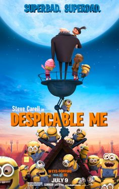 Despicable Me (2010): When a criminal mastermind uses a trio of orphan girls as pawns for a grand scheme, he finds their love is profoundly changing him for the better. #movie
