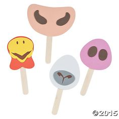 Farm Animal Nose on a Stick Craft Kit - Oriental Trading