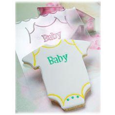 Baby Cookie Cutters - Cookie Cutter Baby Onesie Texture Set