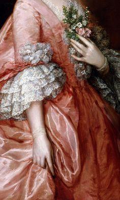 Portrait of Mary Little, Later Lady Carr 1763 - Thomas Gainsborough - (British: Thomas Gainsborough, Renaissance Paintings, Renaissance Art, Princess Aesthetic, Pink Aesthetic, Angel Aesthetic, Rococo Fashion, Art Vintage, 18th Century Fashion