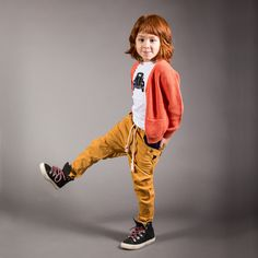 Love these colors, esp with his (her?) hair. #designer #kids #fashion