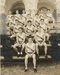 Before he led the revolution, Fidel Castro (seen at the second row from the top on the far left) played basketball. Here he is with his team--from the Belén Jesuit Preparatory School--in 1943.