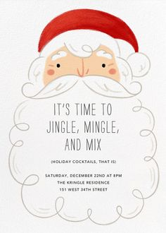 Whitebeard by Paperless Post. Send custom online holiday party invitations with our easy-to-use design tools and RSVP tracking. View more holiday invitations on paperlesspost.com. #beard #christmas #santa #xmas #bierd