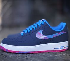 the latest 69b46 da533 Nike Air Force 1 Low – Midnight Navy   Photo Blue - Vivid Pink