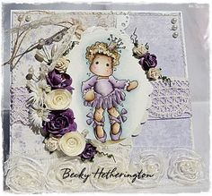 Cards By Becky: Add Flowers At The Ribbon Girl Magnolia Challenge