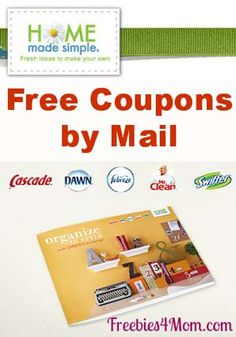 FREEBIE Home Made Simple will mail you a coupon booklet to save money on P products http://freebies4mom.com/2012/09/17/organize/