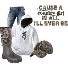 Especially the muck boots and Browning sweatshirt Country Girl Outfits, Country Girl Style, Country Fashion, Country Girls, My Style, Country Life, Country Chic, Southern Style, Country Girl Clothes