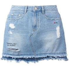 Cammie Blue Denim Mini Skirt (€36) ❤ liked on Polyvore featuring ...