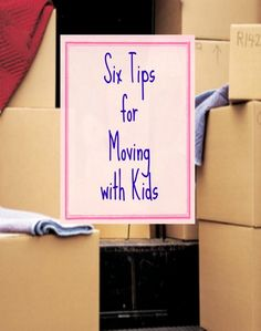 Moving can be stressful let alone adding children to the mix. Here are some tips for Moving with Kids - Tipsaholic.com #moving #kids