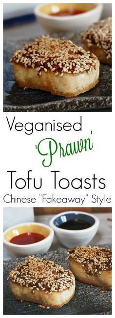 There are very few non vegan foods I truly long for, and Prawn toast is one of those. The combination of the savoury squishy paste & cheap white bread is irresistible. This easy vegan recipe uses tofu instead of the prawns, but is even yummier! Perfect for entertaining or as part of a Chinese 'Fakeaway' meal.