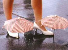 AMAZING ONE-OF-A-KIND UMBRELLA SHOES