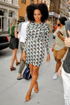 There's no doubt about it, the girl (Solange, that is) has style.  Love it!