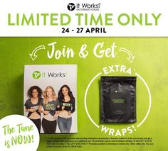 AMAZING NEWS if you have been sitting on the fence just waiting for your sign to join!!! HERE IT IS!!! I will throw in a FREE box of wraps in your starter kit from now till the 27th April !!! THATS RIGHT!!!!!  $360 worth of product for the same price!!!!! Thats crazy INSTANT PROFIT. Message me NOW!! #funfriendshipfreedom #startnow
