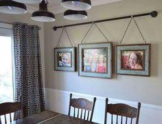 Photo Display Dining Wall Decor IdeasLivingroom