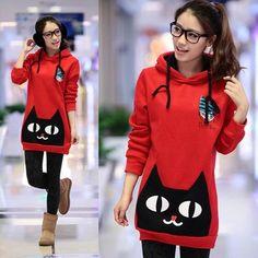 Sudadera gato / cat neko hoodie wh111