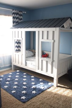 Boys Room Bunk Beds For.Design Detail Built In Bunk Beds And Closets Make Space . 26 Cool And Functional Built In Bunk Beds For Kids DigsDigs. Bunk Bed Tent Made From Drop Cloths For Boys Camping . Home and Family Cool Toddler Beds, Kids Bunk Beds, Toddler Rooms, Baby Boy Rooms, Room Boys, Child Room, Girl Rooms, Boys Cabin Bed, Toddler Cabin Bed