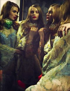 Milou Sluis, Marike Le Roux, Samantha Gradoville And Isabel Scholten By Serge Leblon For Vogue Italia