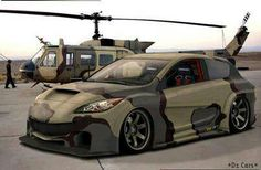 Camo Mazda 3, liking the m series of the Mazda but none on the street are like this.