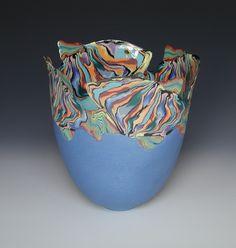 Coloured Porcelain Vases by Judith de Vries Porcelain Jewelry, Porcelain Ceramics, Fine Porcelain, Painted Porcelain, Ceramic Clay, Ceramic Vase, Pottery Vase, Ceramic Pottery, Slab Pottery