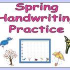 FREE Spring Handwriting Practice :)
