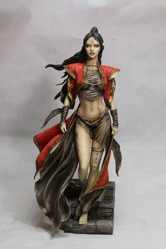 Fantasy Figure Gallery Statue Dead Moon (Luis Romulo Royo) - The Movie Store Fantasy Figures, Fantasy Characters, Female Characters, Action Figures, Anime Sexy, Toy Art, Fantasy Women, Fantasy Girl, Zbrush