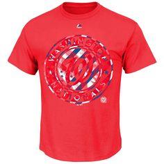Washington Nationals Majestic Stars and Stripes Spirited T-Shirt - Red - $17.59