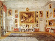 Turner's watercolour of the Drawing Room at Petworth.