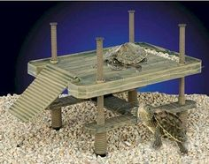 ♥ Pet Turtle Stuff ♥  Turtle topper above tank basking platform and dock