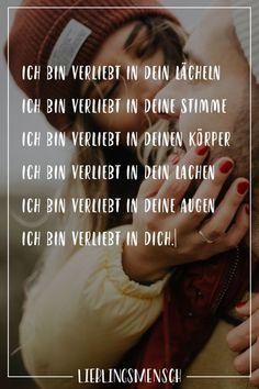 I am in love with your meine Wenigkeit bin verliebt in dein Lächeln meine Wenigkeit bin verliebt in deine Wahlstimme Visual Statements®️ I am in love with your smile I am in love with your voice I am in love with your body I am in love with your laugh … - Disney Love Quotes, Friend Love Quotes, Love Quotes For Him, Friends In Love, Citation Einstein, Einstein Quotes, Sweet Quotes, True Quotes, Relationships Love