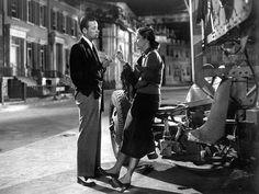 William Holden and Nancy Olson in Billy Wilder's SUNSET BOULEVARD ('50)