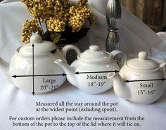 Tea pot cozy sizes