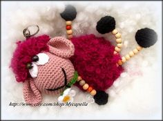 Crochet sheep doll, sheep toy amigurumi,key ring by Mycapella, $32.50
