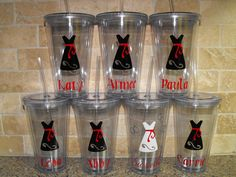 Seven Personalized Bridesmaids Gifts and Bride Gift - 16 oz acryllic tumbler  - wedding gifts - bride gifts - bridesmaid gifts