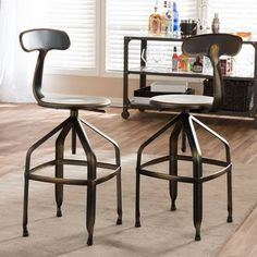 bar stools metal adjustable with back - Google Search
