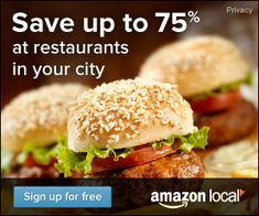 Daily Deals from Amazon.  http://local.amazon.com/?tag=csrproductions-20.  http://chefleez.com