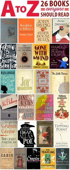 The Half Price Blog - A to Z: 26 Books Everyone Should Read