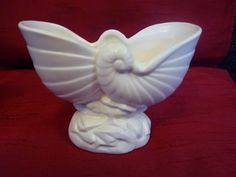 Crown Lynn vase- small Nautalus no.677 | Trade Me Planter Pots, Crown, Vase, Beautiful, Corona, Vases, Crowns, Crown Royal Bags, Jars