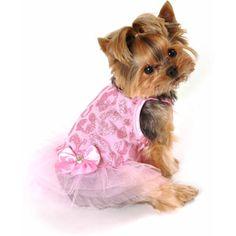 Simply Dog Pink Glitter Cheetah Dress