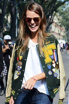 Love this varsity jacket