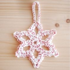 Fancy up your yarn and make your own Christmas Ornaments -- I am going to try this on my Candy Cane Cozys that I have been making.