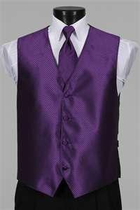 white tux with purple vest « Bolero Shrug Boutique