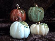 Glazed ceramic Pumpkins by Danielle Valdes by WhistlingSkullDesign, $8.00