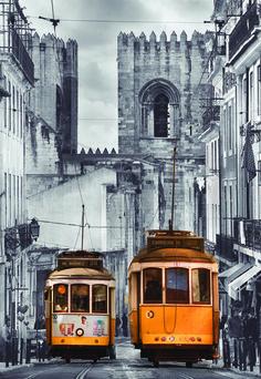 """Puzzle EDUCA """"Barrio de la Alfama, Lisboa"""", 1.500 piezas #lisbon #city #ciudad #tranvía"""