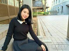 〈聖心女子大学1年 斉藤菜々子〉  「え!1年生なの!!」と心底驚くくらい大人っぽいけれど、話してみると意外に1年生らしく笑顔も中身もキラキラガールで癒されました。