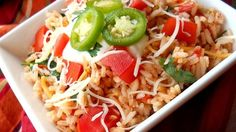 This is an excellent authentic Mexican rice recipe (not to be confused with Spanish rice) that I make as a side dish with all of my Mexican dishes. The key is cooking the rice properly and using good quality chicken broth or stock.