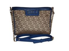 DKNY Town & Country Chino-Blue Vintage PU Logo Plaque Crossbody Bag $169.99 (save $25.01)