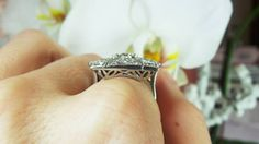Antique ring with an OEC diamond center available at David Klass Jewelry.