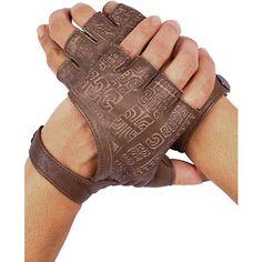 Leather Fingerless Gloves (5.935 RUB) ❤ liked on Polyvore featuring accessories, gloves, fingerless gloves, brown leather gloves, driving gloves, brown fingerless gloves and brown driving gloves