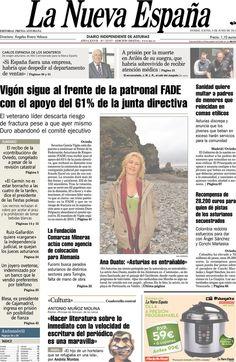Los Titulares y Portadas de Noticias Destacadas Españolas del 6 de Junio de 2013 del Diario La Nueva España ¿Que le parecio esta Portada de este Diario Español?
